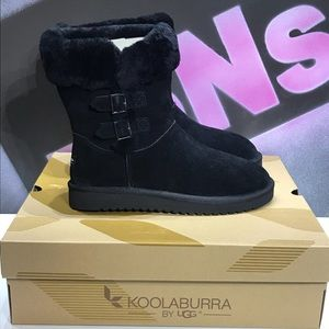 Koolaburra by Ugg Black Side Buckles Boots